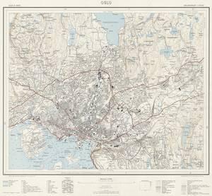 Bilde av Oslo med omegn blad 4, revidert 1960
